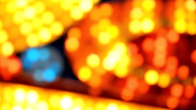 soft-focus flashing marquee lights video