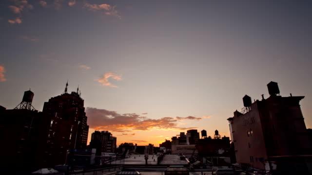Soho sunset time lapse video