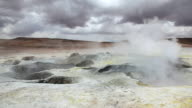 Sol de Manana Geyser Field, Altiplano, Potosi, Bolivia video