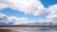 Solar and Wind Power Station in the Desert video