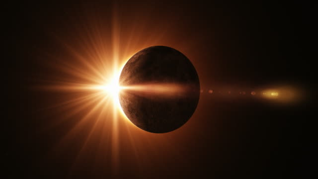 4K Solar Eclipse Animation video