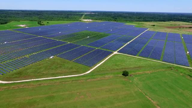 Solar Farm Over Texas video