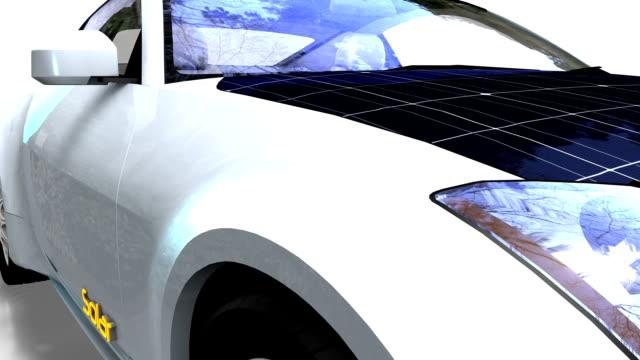 Solar panel electric car video