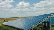 Solar Panel on field video