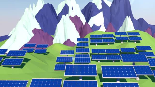Solar Panels 3D video