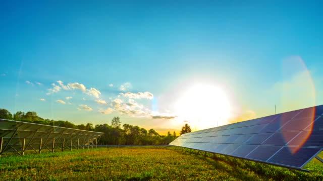 Solar panels and sun video