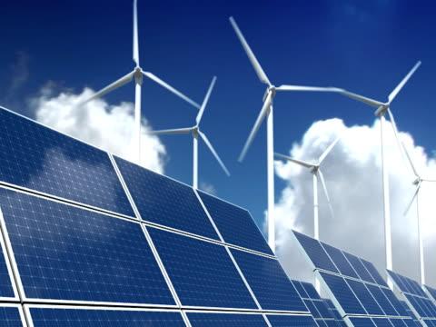 Solar Panels and Wind Turbines - Green Energy (ntsc) video