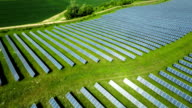 AERIAL: Solar Panels from a solar power plant video