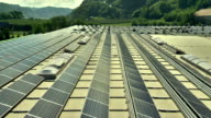 AERIAL Solar Panels On An Industrial Building video