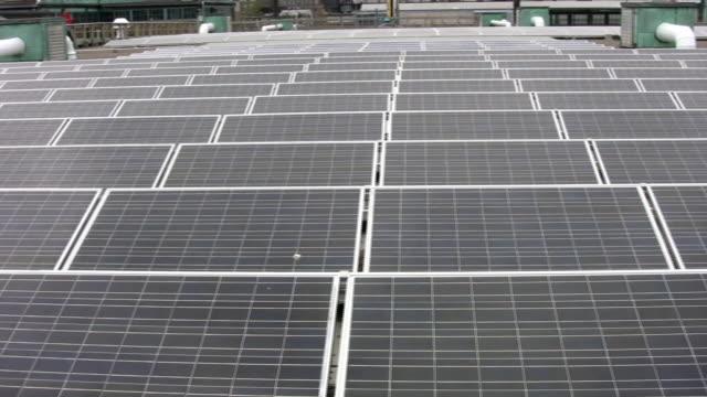 Solar panels on roof. video