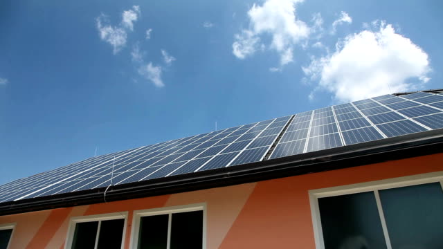 HD CLIP: Solar panels video