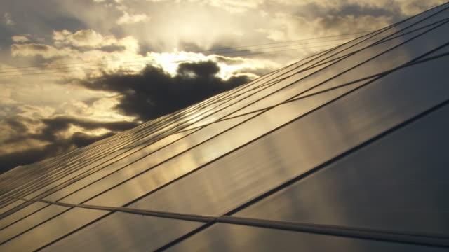 Solar Park at Sunset Time Lapse video