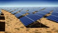 Solar plant. Loop. video