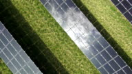 Solar Power Plant Aerial Flyover Shot video