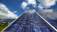 Solar Power Plant with Flexible Panels Pan & Tilt video