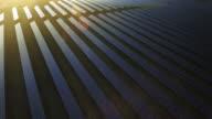 AERIAL Solar Power Station At Sunset Flyover Shot (4K/UHD) video
