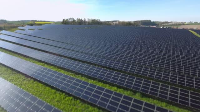 AERIAL Solar Power Station Flyover Shot (4K/UHD) video