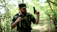 Soldier in action video
