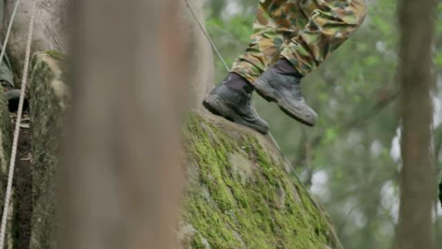 Soldier in treetops video