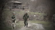 Soldiers and dog video