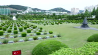 BUSAN/SOUTH KOREA-MAY 5: Soldiers graves in UN Memorial Cemetery in Korea, Korean war(1950~1953) video