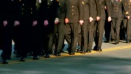 Soldiers Marching in Formation in Uniform video