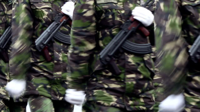 Soldiers with Guns Marchpast video