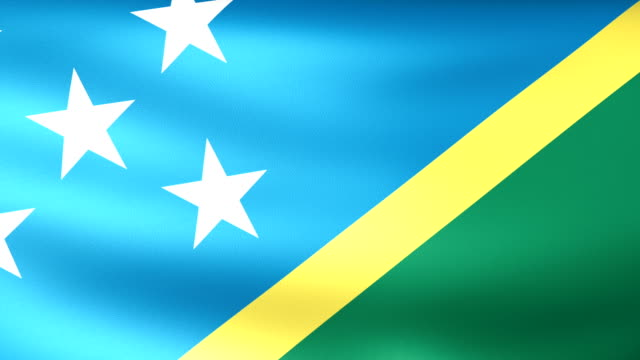 Solomon Islands Flag Waving video