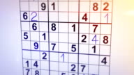 solving sudoku puzzle animation video