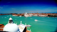 Some attractions of Venice city, aerial view video