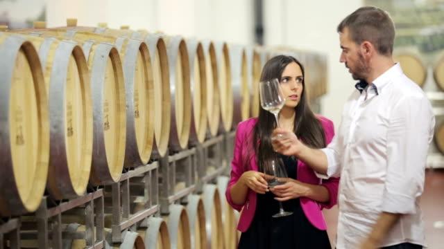 Sommelier explaining wine tasting video