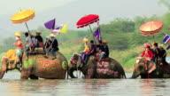 Songkran festival ,Sukhuthai Thailand video
