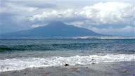 Sorrento coastline, Gulf of Naples and Mount Vesuvius on the background video