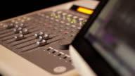 sound mixer in a professional studio video