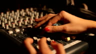 sound music mixer control panel on radio video