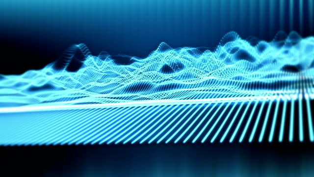 Sound waves loopable background video