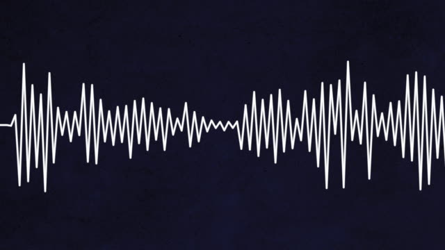 Sound waves moving in motion graphic illustration video
