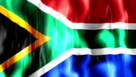 South Africa Flag Animation video