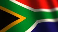 South Africa flag - loop. 4K. video