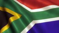 South Africa Flag Video Loop - 4K video