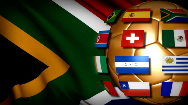 South Africa Soccer World cup FLAGS video
