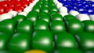 south africa zulu bead flag pan video