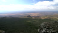 South African countryside horizon from mountain side, daytime video