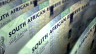 South African Rands Close-up video