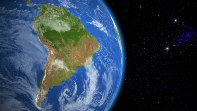 South America from space video