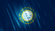 South Dakota State Loopable Flag video
