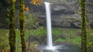 South Falls at Silver Falls State Park in Autumn video