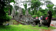 South gate of Angkor Thom video