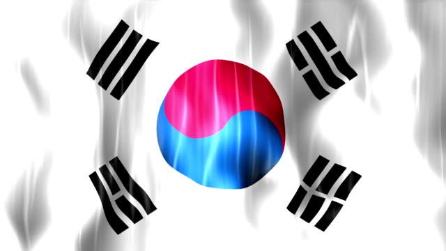 South Korea Flag Animation video