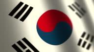 South Korea flag - loop. 4K. video